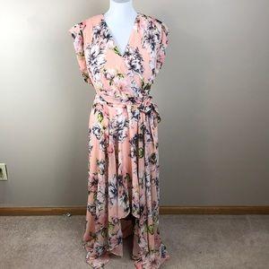 d54f86a7 Eliza J Dresses | Floral Ruffle Highlow Maxi Dress | Poshmark